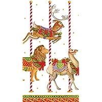 Caspari Entertaining with Merry Go Round asciugamani di carta per
