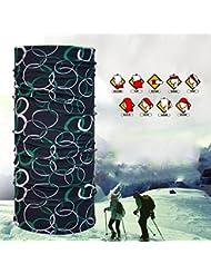 Rare Casque multifonctionnel Seamless Magic Scarf Headbands 10 pcs Doux et confortable coupe vent et à sec