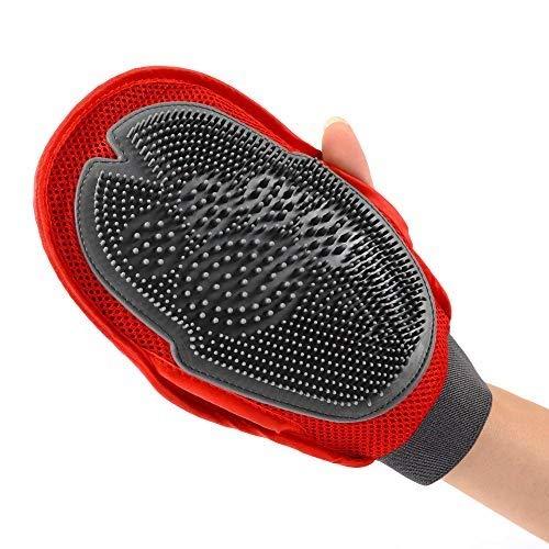 Heimtierbedarf Hundesalon Handschuhe, Haustier doppelseitige Bad Massagebürste Silikon Bad Reinigungsprodukte Gummi Massage Handschuhe Pinsel Handschuhe für Hunde Katzen Pferde