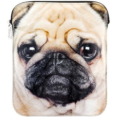 Motivo con animali - cane carlino grande iPad a maniche