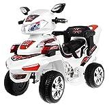 BSD Elektromotorrad für Kinder Elektrisch Ride On Kinderfahrzeug Elektroauto Motorrad - F918 R/C - Weiß