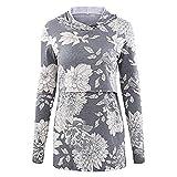 Beikoard Herbst und Winter Umstandskleidung-Frauen Pflege Print Hoodie Stillende Kleidung Bluse-Lässiger Still Langarmpullover