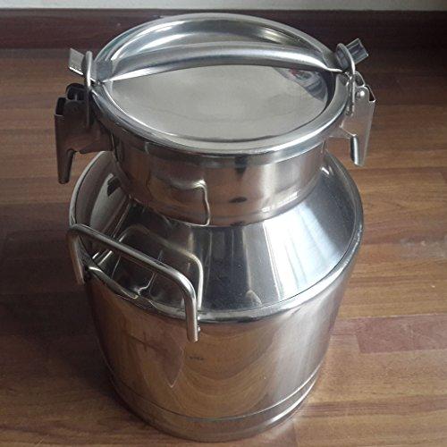 Wotefusi 50L Edelstahl Milch kann Eimer Kessel Tote Kanne Deckel 5-50 L Wein 1,3-13 Gallone, MEHRWEG -