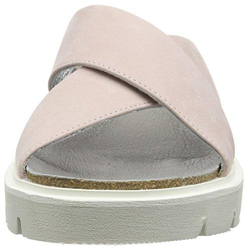 SHOOT Shoes Sh-160044dd Damen Sommer Leder Sandale, Sandali Donna Bianco (Elfenbein (Fard))