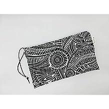 Tribal Black Pouch, Cosmetic Bag, Purses, Make Up Bag, Bolsa neceser para
