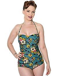 Banned Twilight Womens Halterneck Vintage Retro Onepiece Swimsuit