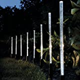 Garden mile® 8 X LED SOLAR LIGHT CRYSTAL BUBBLE STICK SOLAR POWERED RECHARGEABLE BATTERIES GARDEN LIGHTS BORDER POST LIGHTING, UNIQUE BRIGHT SOLAR LIGHTS OUTDOOR, 8 SOLAR LIGHT SET,GARDEN OR PATH LIGHTING,WIRELESS & WATERPROOF LIGHTS