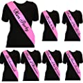 Ladies Deluxe Pink Sash With Black Text Elegant Hen Party Sash's For Hen Night Out Fancy Dress Accessories - Choose Style