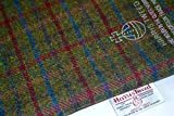 Harris Tweed Stoff 100% reine Schurwolle grün Plum & Blau