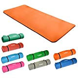 Hansson.Sports NBR Fitness Yoga Pilates Gymnastikmatte 183x80x1,5cm (orange)