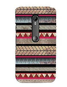 Citydreamz Multicolor Shapes/Stripes Pattern Hard Polycarbonate Designer Back Case Cover For Motorola Moto X Style