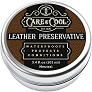 Care & Cool Leather Preservative. The Best Universal Leather Restorer for Shoes, Car Seats, Upholstery, an