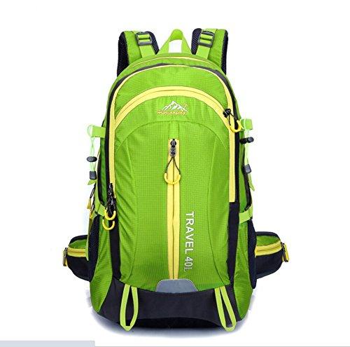 LQABW Reisen Im Freien Frauen 40L Antike Professionelle Mountaineering Schulter Männer Tasche Wasserdicht Atmungsreisewanderrucksack Green