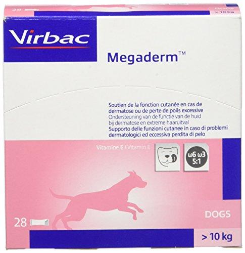 Megaderm Monodosierung 28 x 8ml für Hunde und Katzen - enthält Omega-6 und Omega-3 Fettsäuren zur Unterstützung von Fell und Haut