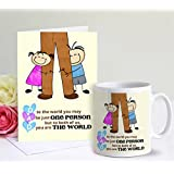 TIED RIBBONS Fathers Day Gift Coffee Mug(320Ml) with Greeting Card