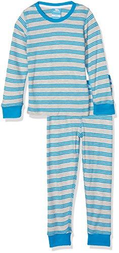 Trespass Kinder Jungen Calum Thermo Unterwäsche-Set (98 (2-3 Jahre)) (Blau gestreift)