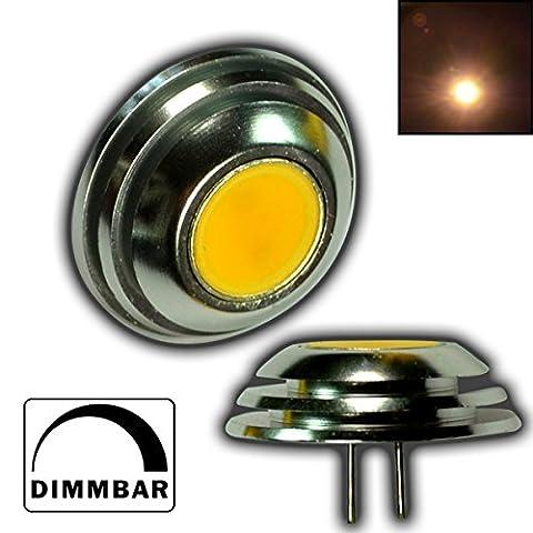 1x Dimmbare G4 1,5 Watt 1x COD SMD LED 12V DC WARMWEIß für Dimmer Knopf / Ufo Form Stiftsockel 140° Leuchtmittel G4 Lampensockel Spot Halogenersatz Lampe DIMMBAR