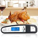 Fleisch-Thermometer Ofenfeste elektrische Rauch-Fleisch-Thermometer Digital-Kochen-Thermometer-Probe Bbq Food-Thermometer für Zucker-Stau Wasser Grill Bier Faltbare … (schwarz) Vergleich