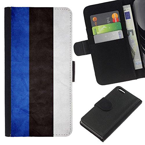 Graphic4You Vintage Uralt Flagge Von Slowakei Slowakisch Design Brieftasche Leder Hülle Case Schutzhülle für Apple iPhone 5C Estland Estnisch