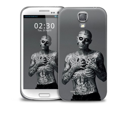 Zombie Boy, Tattoo Skeleton and Skull Samsung Galaxy S6 Edge GS6 Edge plastic protective phone case cover (image shows Galaxy S4 example)