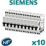 Siemens - Lot de 10 Disjoncteurs électriques phase + neutre 20A