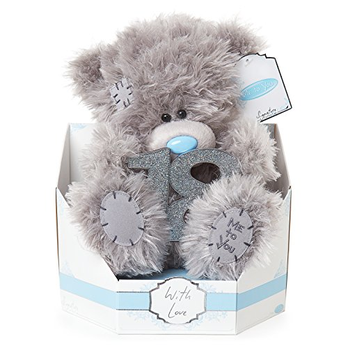 "Me to You SG01W4087 ""Tatty Teddy Signature Collection"" Klassischer Bär, sitzend, Geschenk zum 18. Geburtstag, Plüsch-Spielzeug, 22,9 cm hoch"