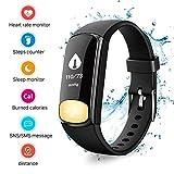 Fitness Tracker Uhr, Uten Bluetooth Fitness Armband IP67 Aktivität Tracker Fitnessuhr mit Pulsmesser Blutdruckmesser und Herzfrequenzmesser Wasserdich Armbanduhr mit Schrittzähler Kalorienzähler