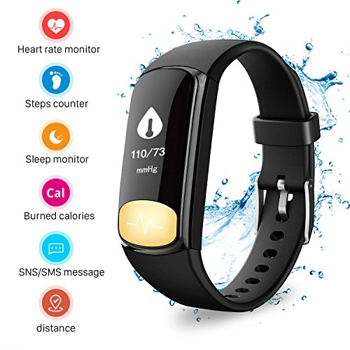 Mbuynow Activity tracker Uten fitness tracker with blood pressure monitor Water proof step counter wearable heartrate sleep monitor