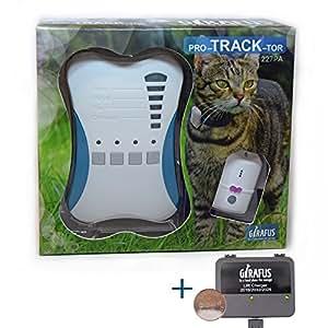 Girafus® Katze Hund pro-TRACK-tor Tracker Peilsender Ortung und Sucher//Mini RF-Tracker (8g mit Batterie) ideal für Katzen Haustiere Hunde//Ortung in Räumen möglich zB. Nachbarskeller–inkl. LADEGERÄT