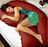 Coozly U LYTE Maroon Pregnancy Pillow Fi...