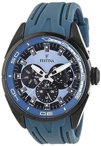 Festina - F16610/3 - Montre Homme - Quartz Analogique - Aiguilles Luminescentes - Bracelet Caoutchouc Bleu