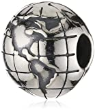 - 51Ia 2BUPpAIL - Pandora Women's 925 Sterling Silver World Charm Bead