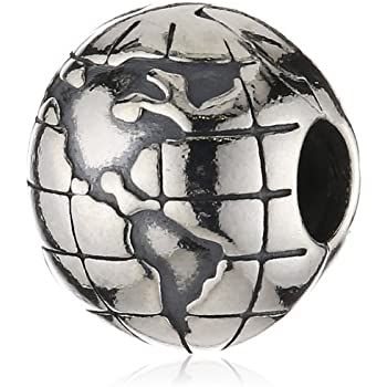 Pandora Women's 925 Sterling Silver World Charm Bead