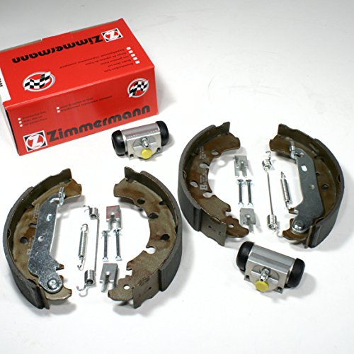 Zimmermann Bremsbacken + Zubehör + Radbremszylinder für hinten/die Hinterachse