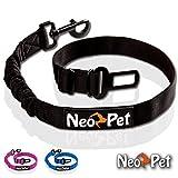 Premium Hunde-Sicherheitsgurt | Hunde-Anschnall-Gurt | Autogurt-Adapter für Hunde-Geschirr | Stufenlos verstellbar und elastische Rückdämpfung | Hundegurt fürs Auto von NeoPet