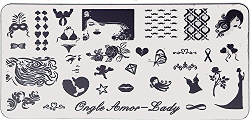 Lady - Plaque de stamping | ONGLE AMOR