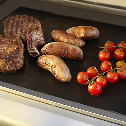 51Ia0t2dNUL - Dobet BBQ-Grillmatten-Set 3Stück 40,6x 33cm Fiberglas wiederverwendbares Grill-Zubehör–funktioniert auf Gas-, Holzkohle-Grill, Öfen, Elektro-Grills und mehr
