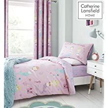 Catherine Lansfield Junior Duvet Set, Polyester, Pink