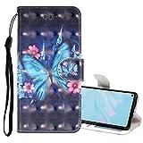 Nadoli Leder Hülle für Galaxy M20,3D Bunt Magnetverschluss Kartenfächer Handytasche Lederhülle Brieftasche Etui Schutzhülle Geldbörse Magnet Case für Samsung Galaxy M20