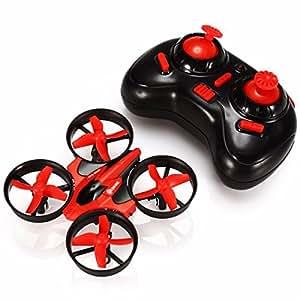 Mini Quadcopter Drone, EACHINE E010 Mini UFO Quadricottero Droni per Bambini (Rosso)