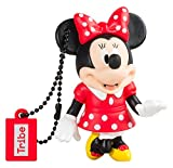Tribe Disney Minnie Mouse - Memoria USB 2.0 de 16 GB Pendrive Flash Drive de goma con llavero,...