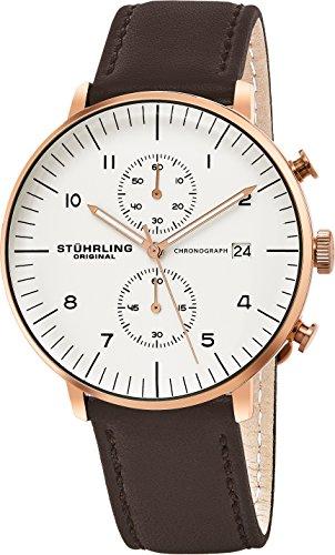 STUHRLING ORIGINAL Herren 803.04Monaco Analog Armbanduhr Display braun Quarz