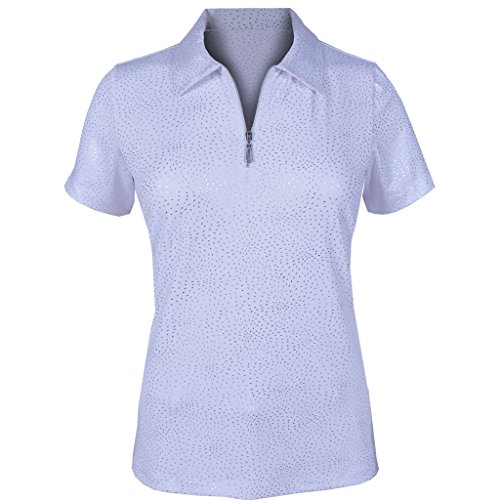 Monterey Club Damen Dry Swing Feuerwerk Folie Massiv Shirt # 2441, Damen, Weiß, Small (Folie Print Top Animal)