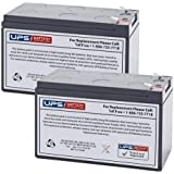UPS Battery Center PP800 12V 9Ah F2 Compatible - Replacement Battery Set By UPS Battery Center