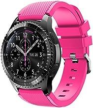 Correas para Samsung Gear S3 Frontier Sannysis Banda de pulsera de silicona deportiva color rosa
