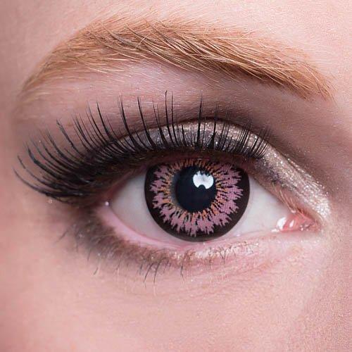 Matlens - EOS Farbige Kontaktlinsen ohne Stärke pink rosa Big eyes S-325 2 Linsen 1 Kontaktlinsenbehälter 1 Pflegemittel 50ml FBA