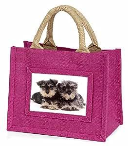 Miniature Schnauzer Dogs Little Girls Small Pink Shopping Bag Christmas Gift