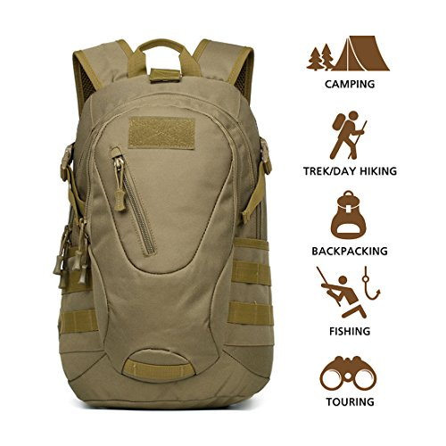 Imagen de hisea  militares al aire libre senderismo  de tela de nylon pack de asalto táctico impermeable bolsa de viaje deportivo 15l con diseño ergonómico trajes para camping caza trekking viajes