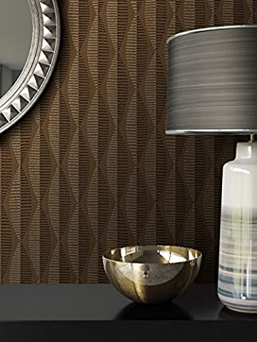Tapete Braun Vliestapete in Natur Optik , schöne, moderne, edle Tapete im Grafik Design , für Wohnzimmer, Schlafzimmer oder Küche inklusive Newroom Tapezier Ratgeber mit Tipps für perfekte