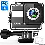 DBPOWER N6 Action Cam HD 4K 20MP WiFi Con Microfono Esterno Touch Screen Impermeabile 30M Sott'acqua Fotocamera con EIS Stabilizzazione Videocamera 170° Grandangolare Time Lapse/2 Batterie 1200mAh